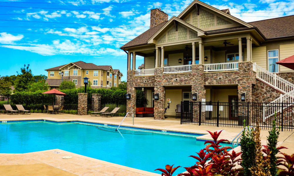 Spacious swimming pool area at Cosgrove Hill in Chapel Hill