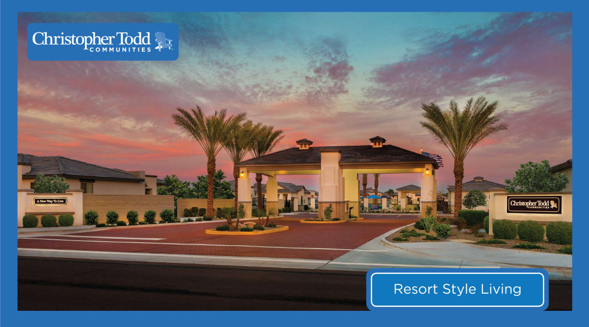 Beautiful sunset at Christopher Todd Communities On Camelback in Litchfield Park, Arizona