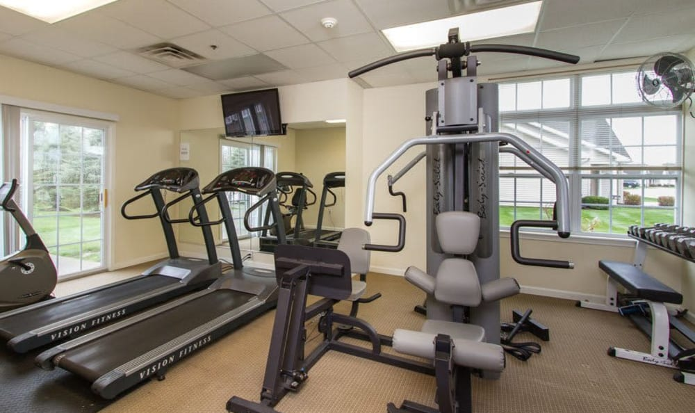 Villas of Victor and Regency Townhomes fitness center in Victor, New York