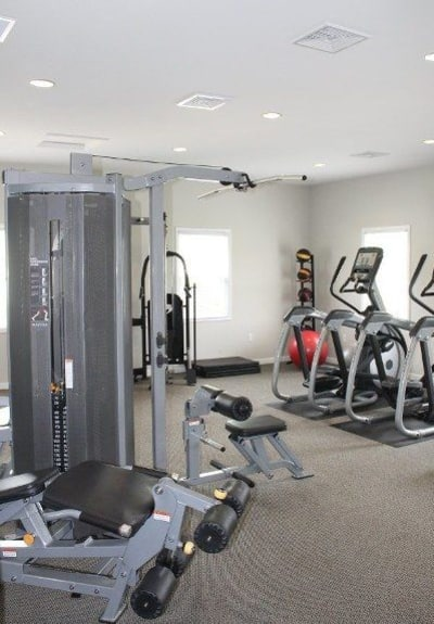 Fitness center at The Village of Laurel Ridge in Harrisburg, PA