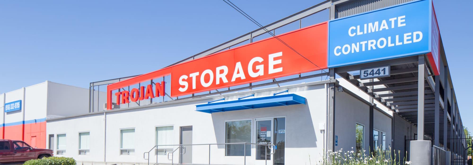 Self storage at Trojan Storage in Sacramento California