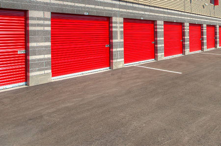 Drive up units at StorQuest Self Storage