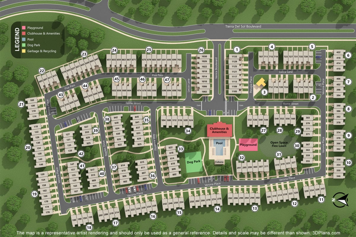 site map of Artisan Living Bella Citta in Davenport, Florida