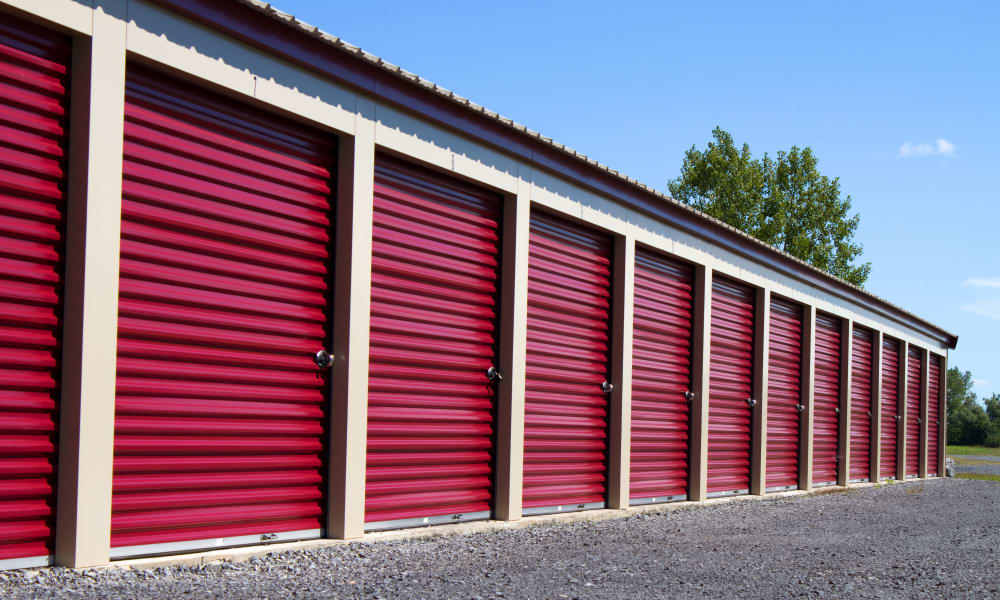Modern and large storage units at A Better Self Storage Bott in Colorado Springs Colorado