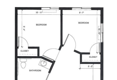 Learn more about our AL Two Bedroom floor plan option at Village at Belmar