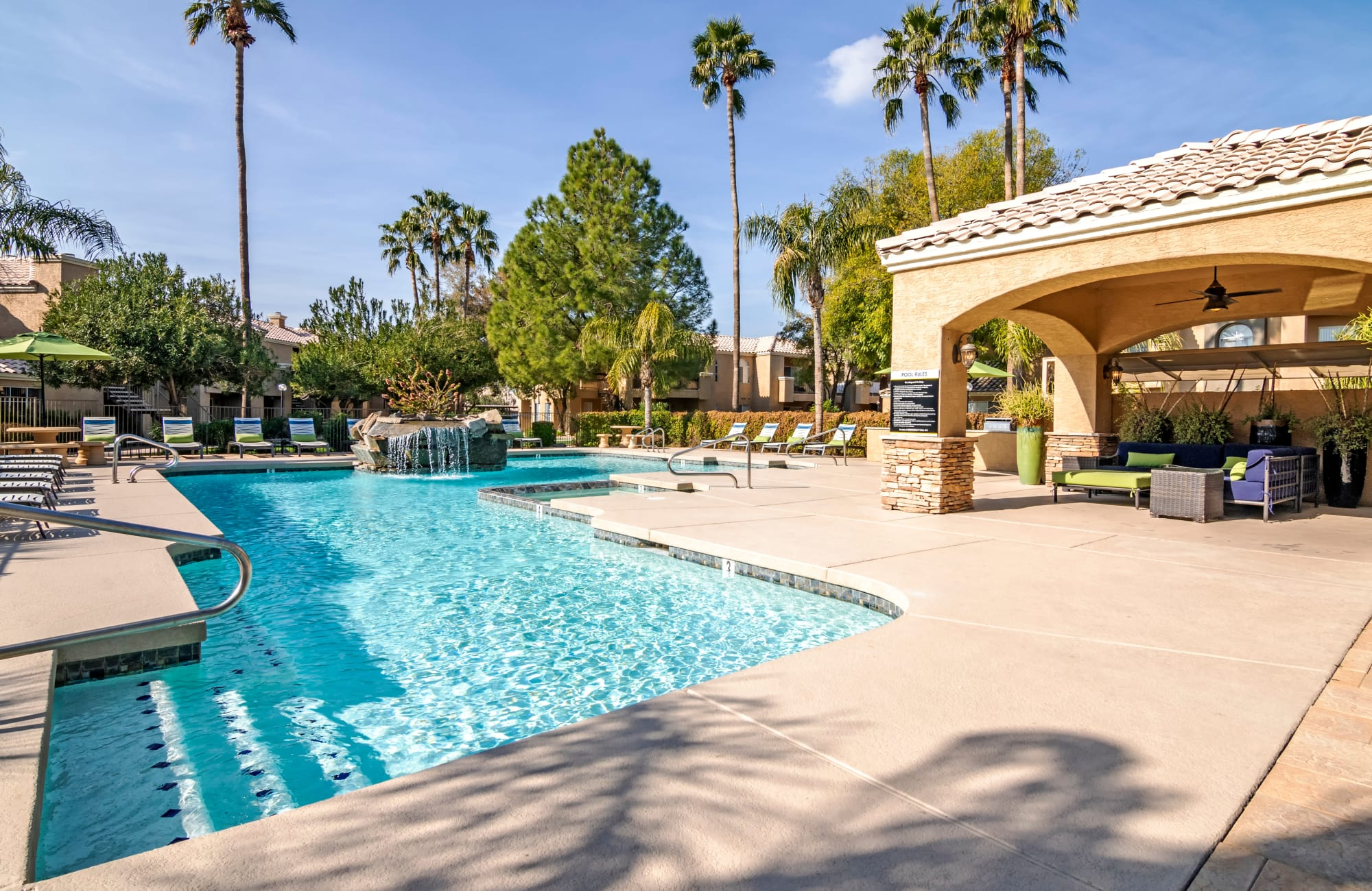 Swimming pool at The Boulevard in Phoenix, Arizona