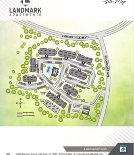 Printable site map image at Landmark Apartments in Little Rock, Arkansas