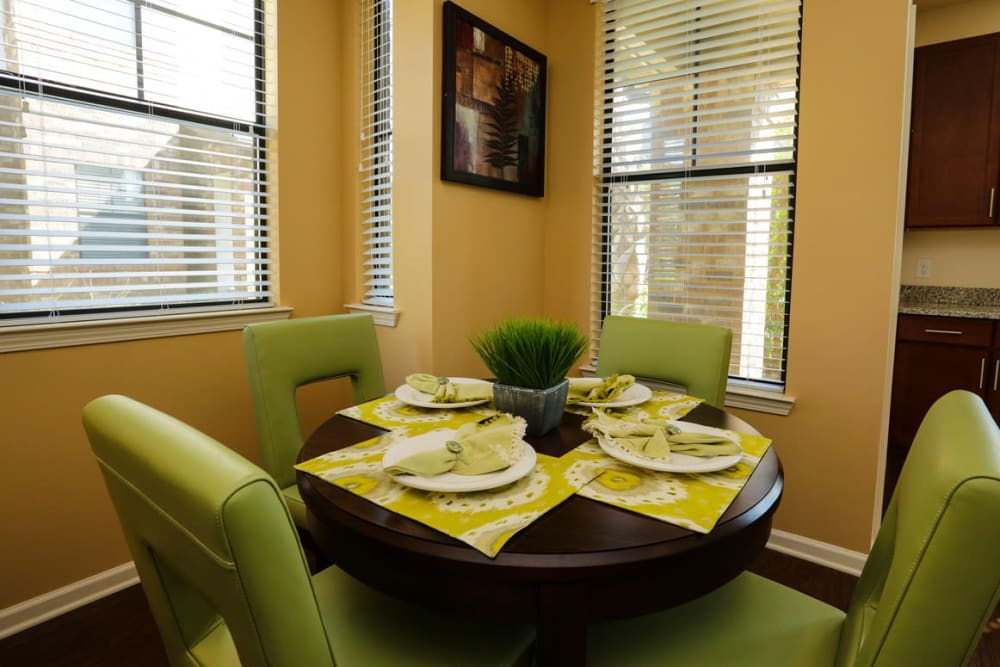 Dining nook in a model home at The Hawthorne in Jacksonville, Florida