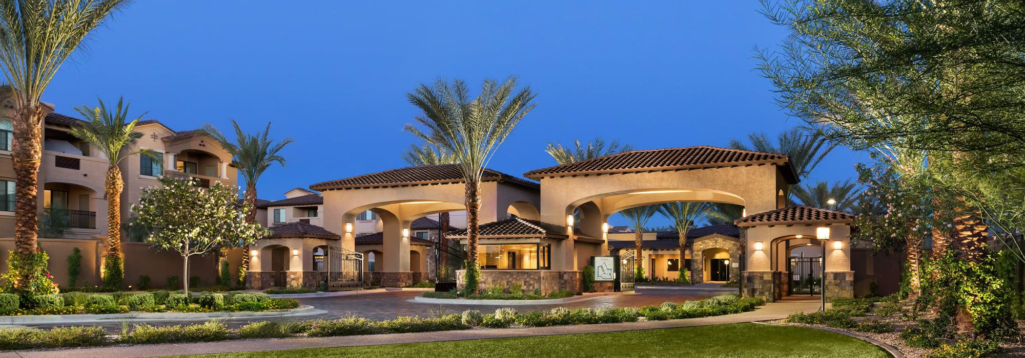 Lovely landscaping at San Portales in Scottsdale, Arizona