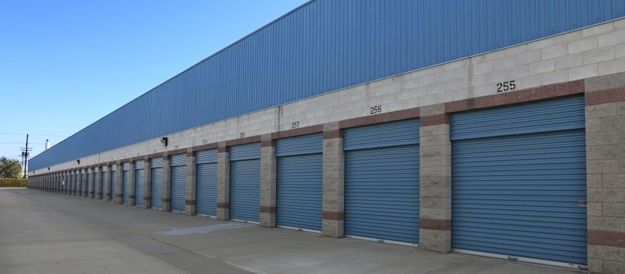 Drive-up storage units at A-1 Self Storage in Anaheim, California