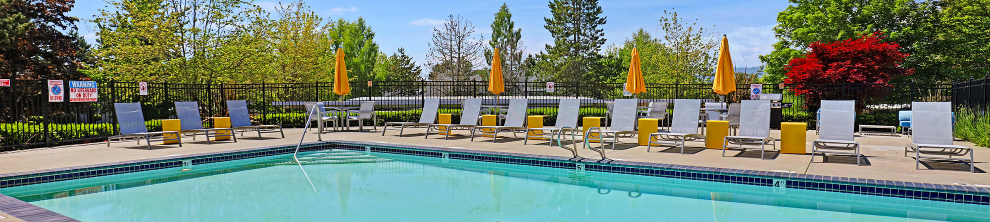 Floor plans with a refreshing outdoor pool for Cascade Ridge in Silverdale, Washington