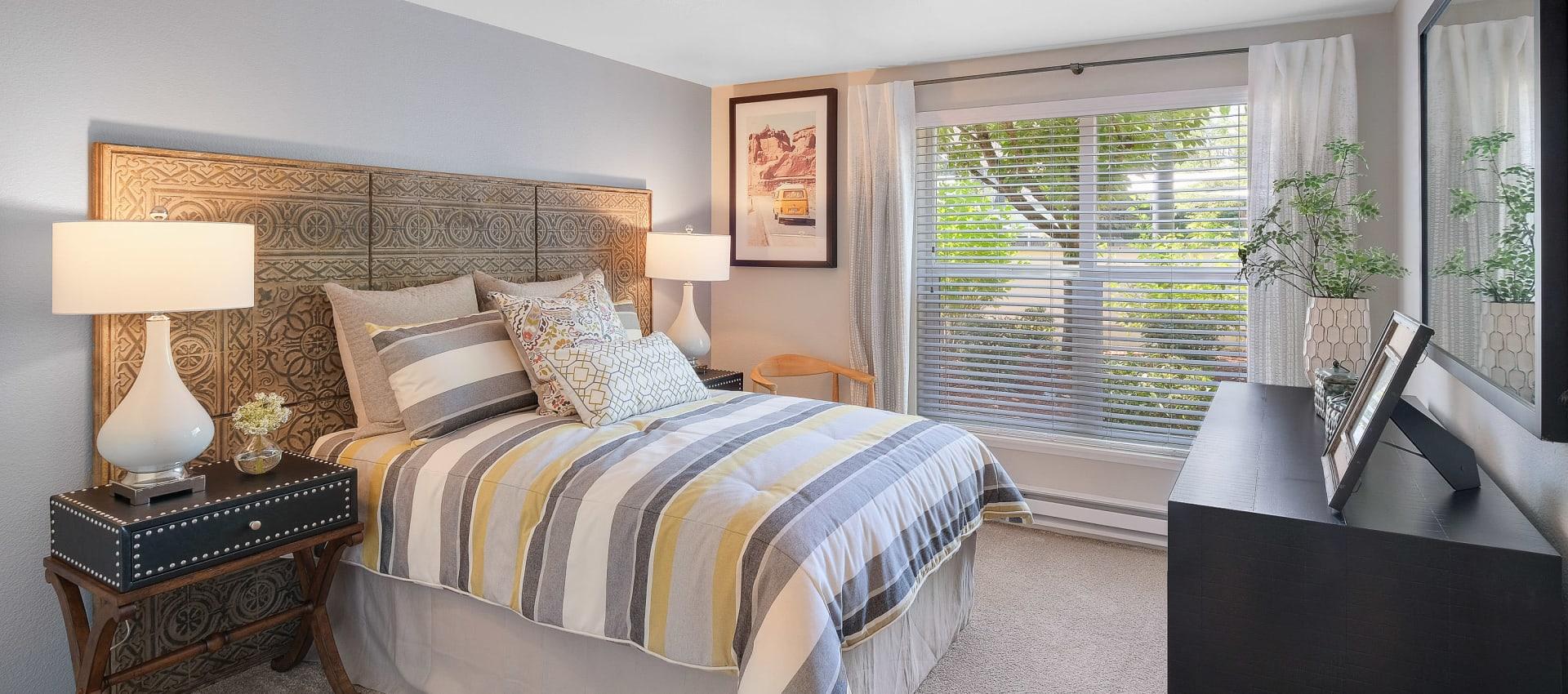Unique bedroom at Centro Apartment Homes in Hillsboro, Oregon