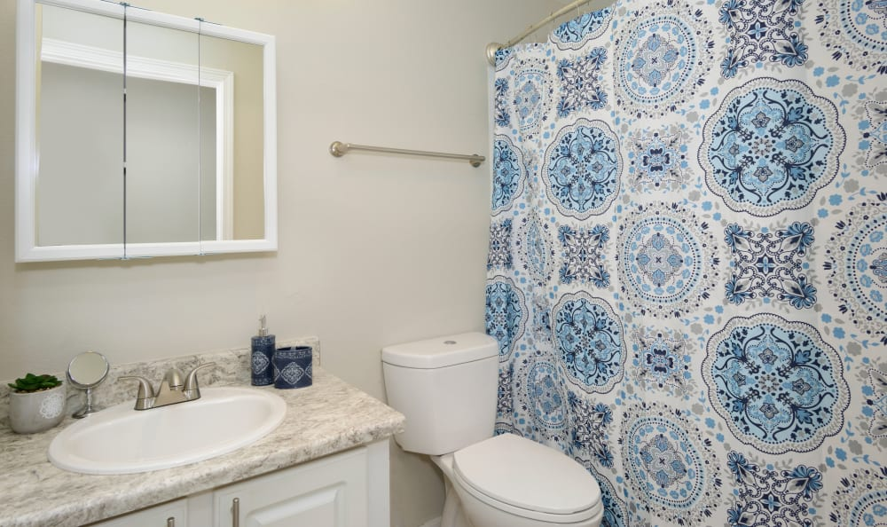 Discovery Landing Apartment Homes in Burien, WA offers a bathroom