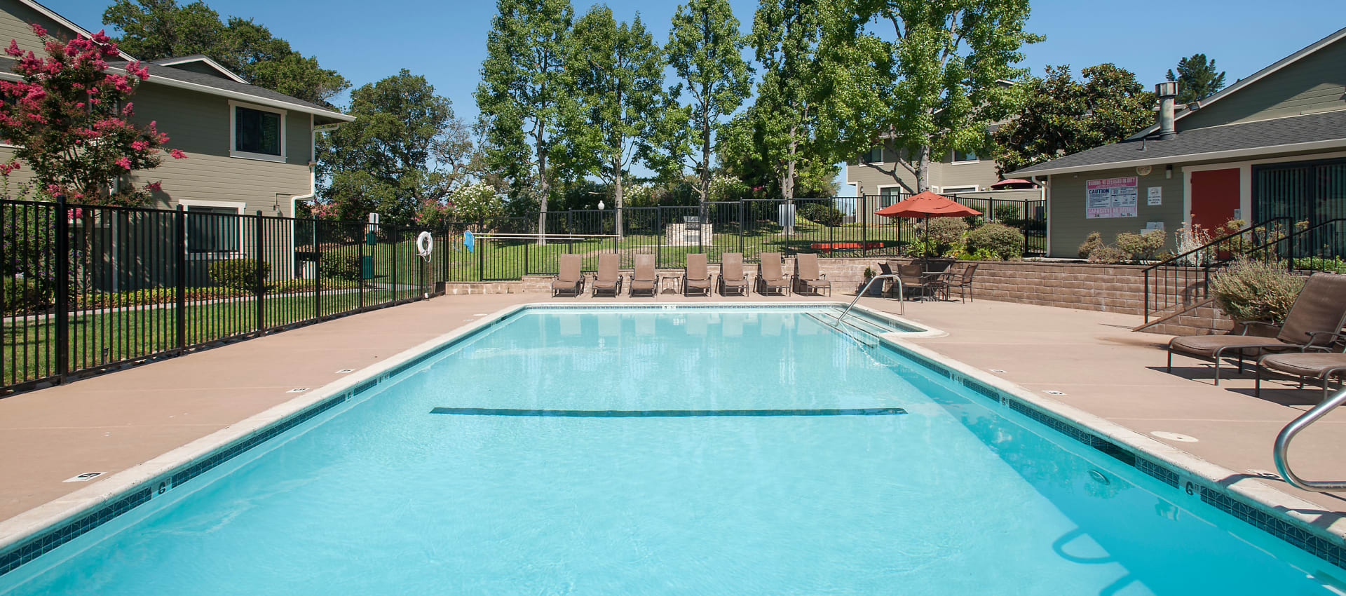 Expansive swimming pool at Ridgecrest Apartment Homes in Martinez, California