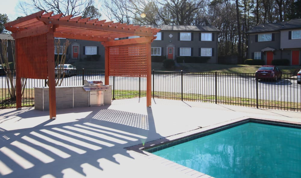 Gazebo and swimming pool at The Broadway at East Atlanta