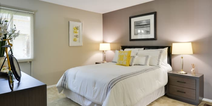 Bedroom at The Colony at Towson Apartments & Townhomes in Towson, Maryland