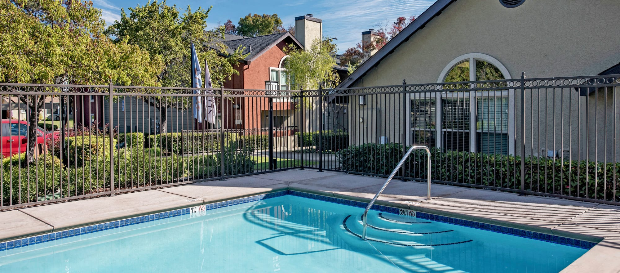 State-of-the-art swimming pool at Sterling Heights Apartment Homes in Benicia, California