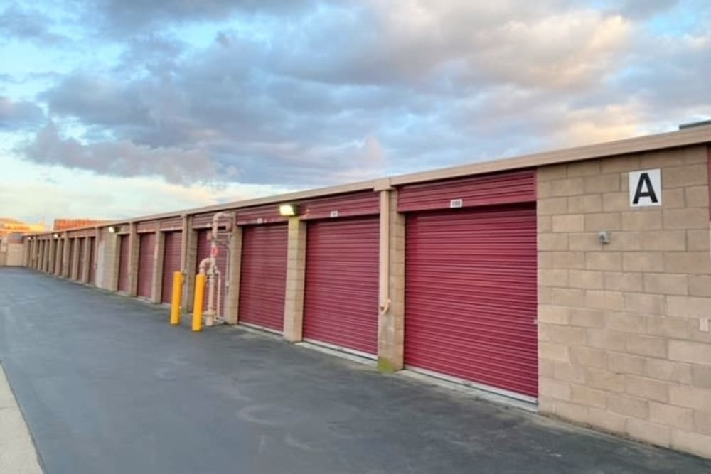 Keypad entrance at Trojan Storage in Salinas, California