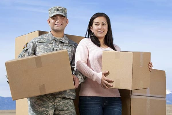 A military family moving with Crown Self Storage in N Las Vegas, Nevada