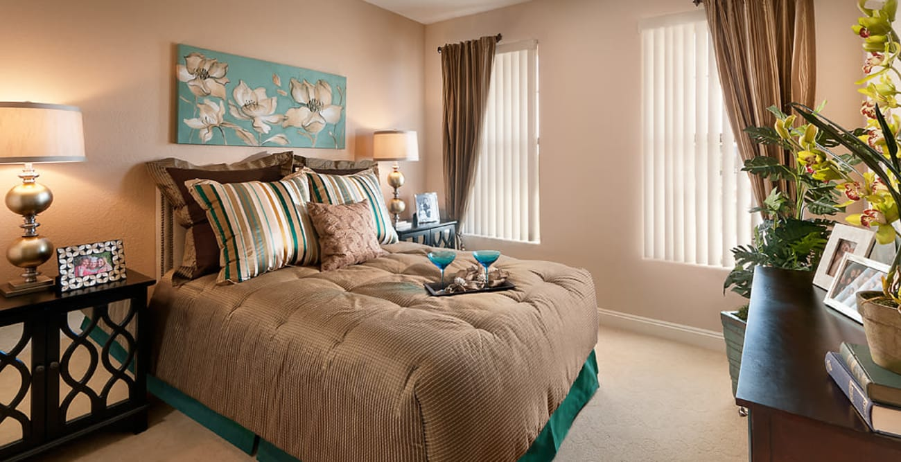 Bedroom at McDowell Village in Scottsdale, Arizona
