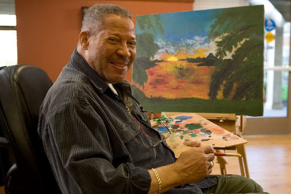 A Pathway to Living senior living resident painting
