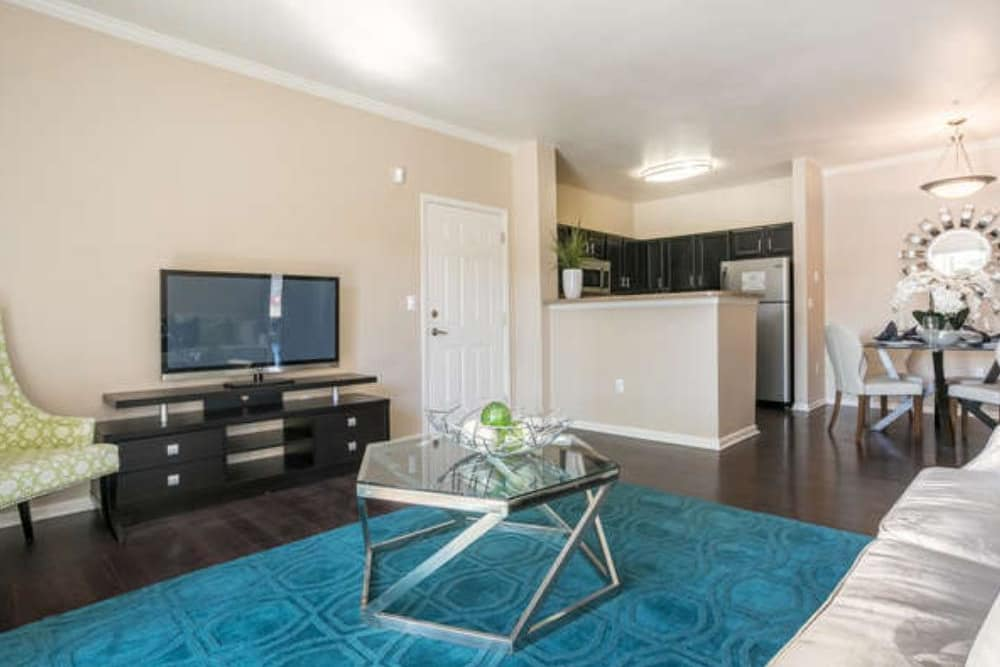 Living room at Westridge Apartments in Aurora