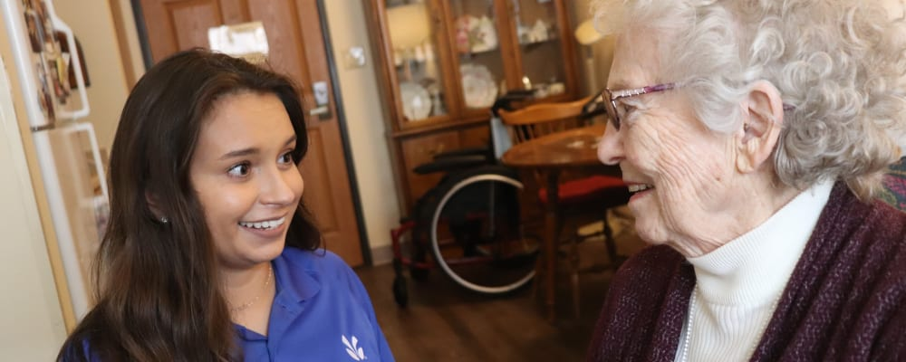Caregiver with resident at The Springs at Missoula in Missoula, Montana