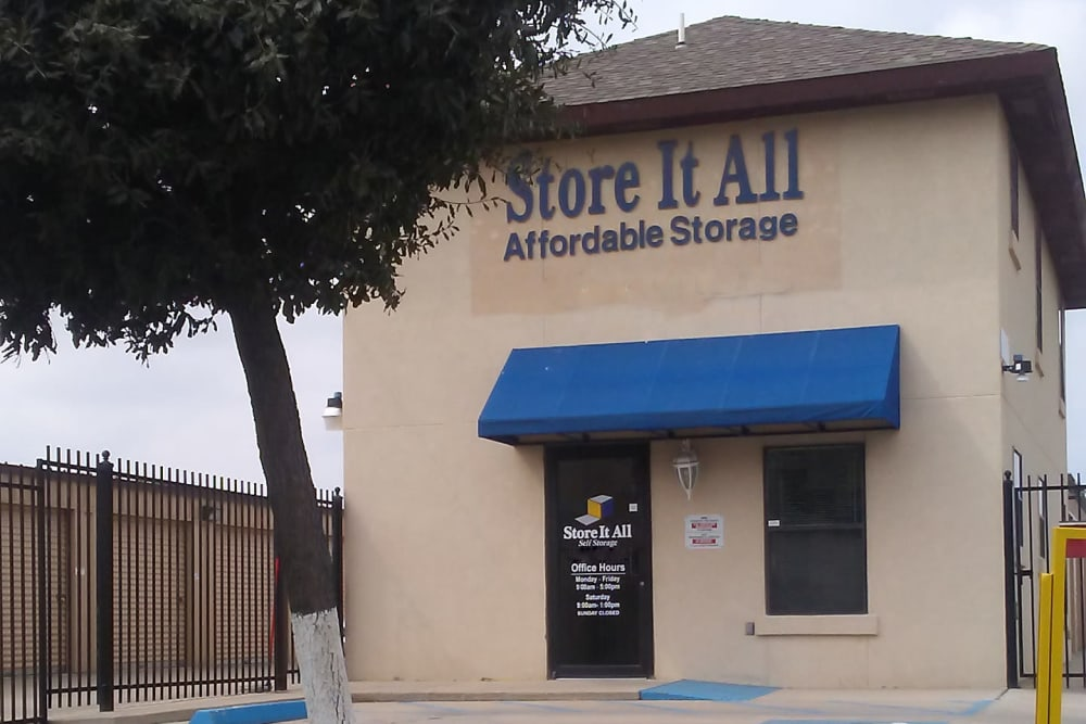 The front office at Store It All Self Storage - Affordable in Laredo, Texas