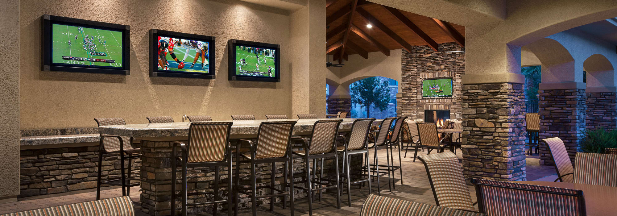 Spacious clubhouse to entertain friends and family at San Travesia in Scottsdale, Arizona