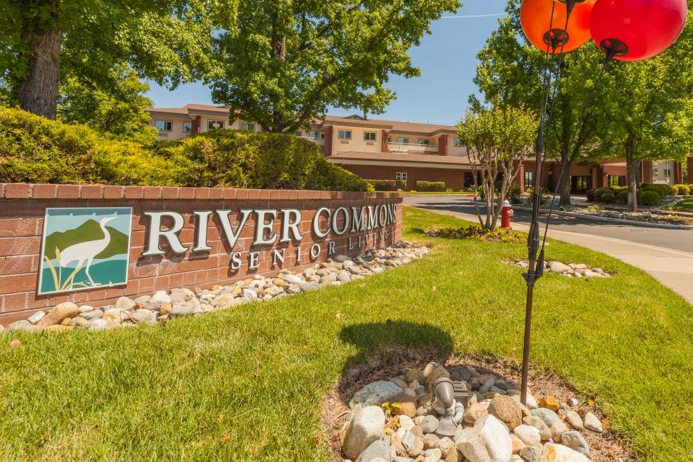 Beautiful exterior at River Commons Senior Living in Redding, California