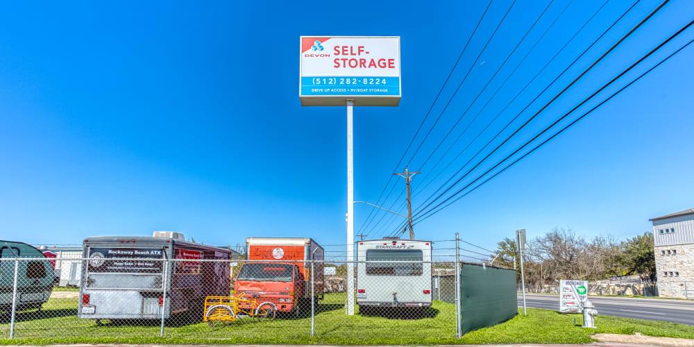 RV, Boat & Auto storage at Devon Self Storage in Austin, Texas