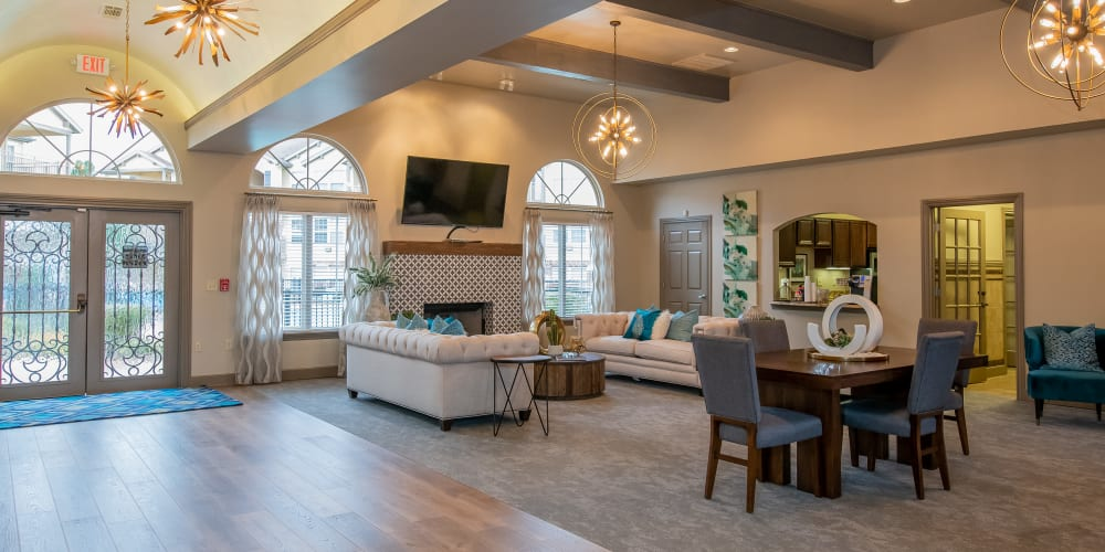 Luxurious clubhouse at Tuscany Place in Lubbock, Texas