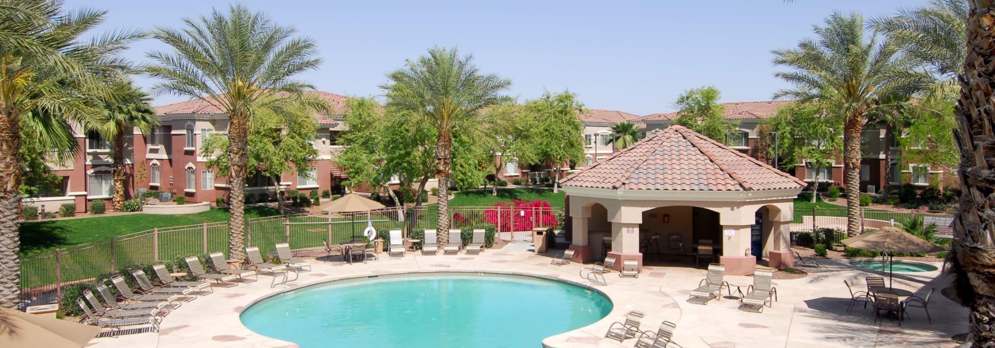 Swimming pool area at Remington Ranch in Litchfield Park, Arizona