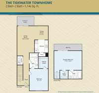 Two Bedroom, The Tidewater Townhome, at The Palms at Casselberry in Florida