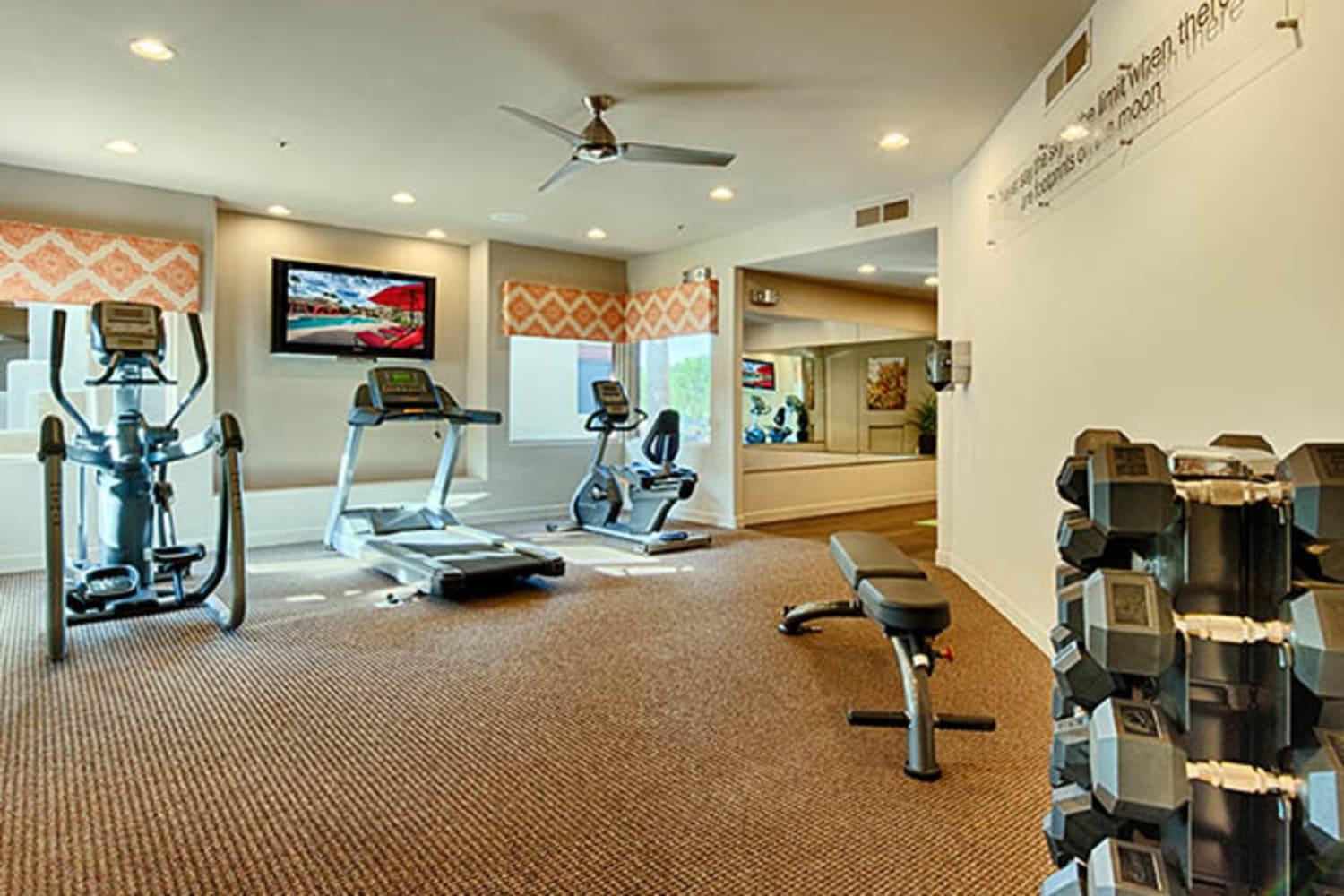 Fitness center at Casa Santa Fe Apartments in Scottsdale, Arizona