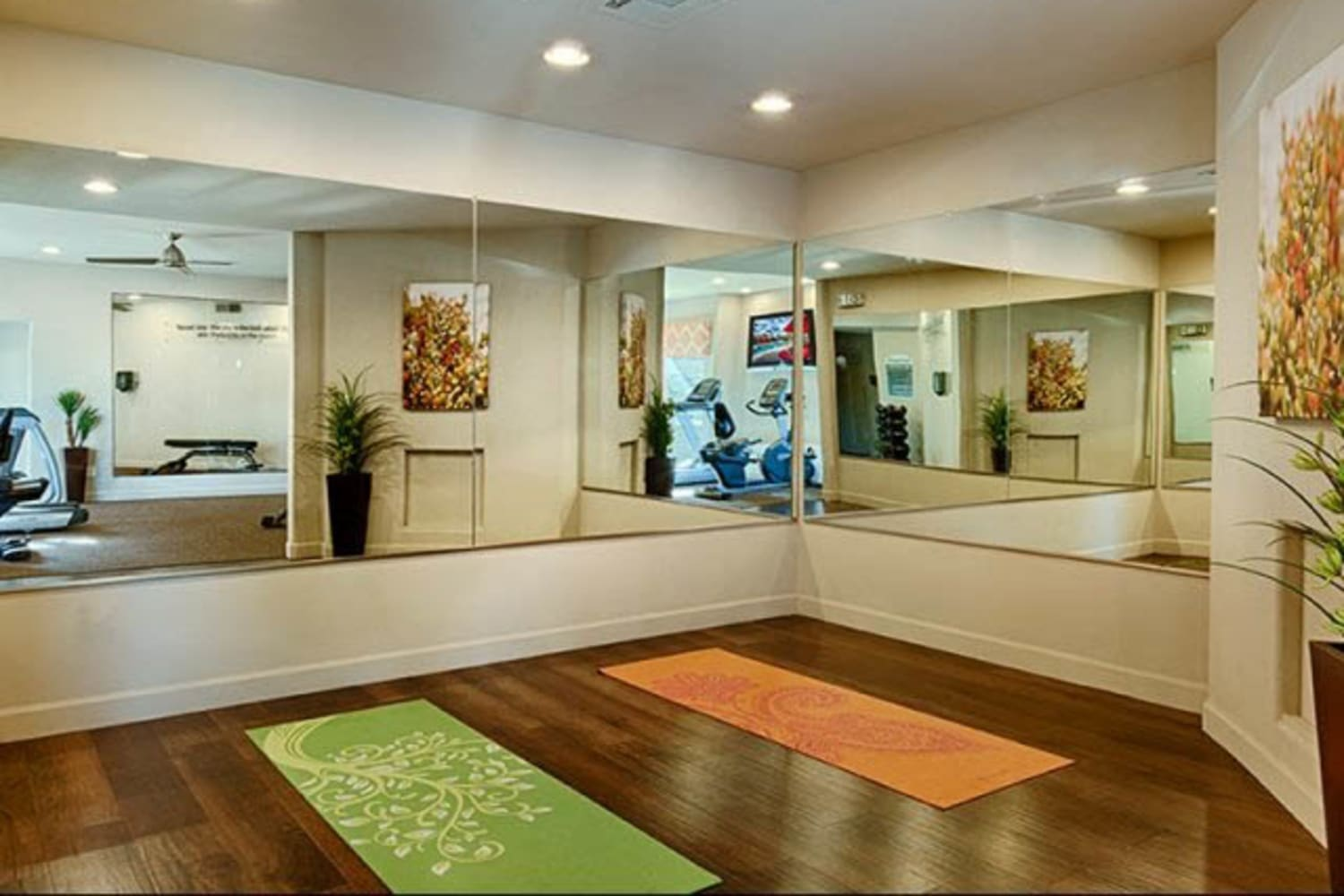 Yoga studio at Casa Santa Fe Apartments in Scottsdale, Arizona