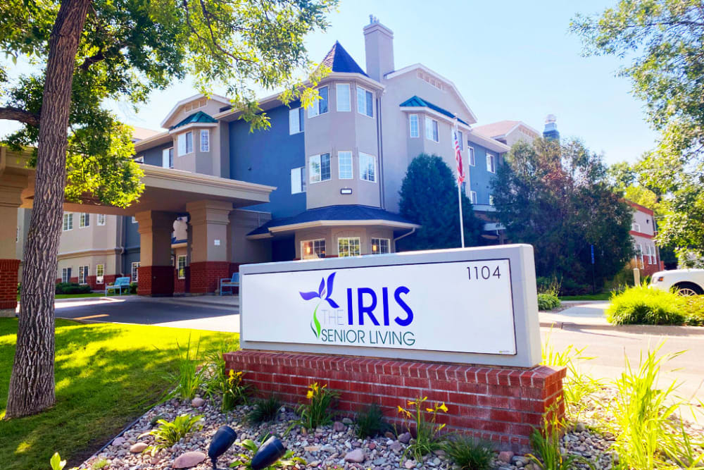Outside view of building at The Iris Senior Living in Great Falls, Montana