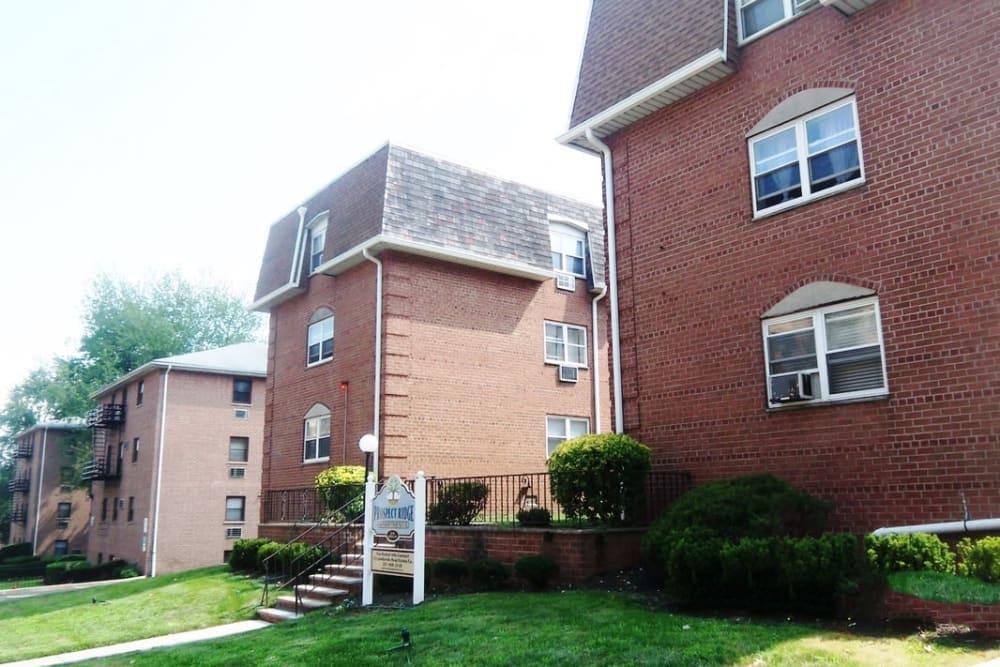 Exterior of Prospect Ridge Apartments in Hackensack, New Jersey