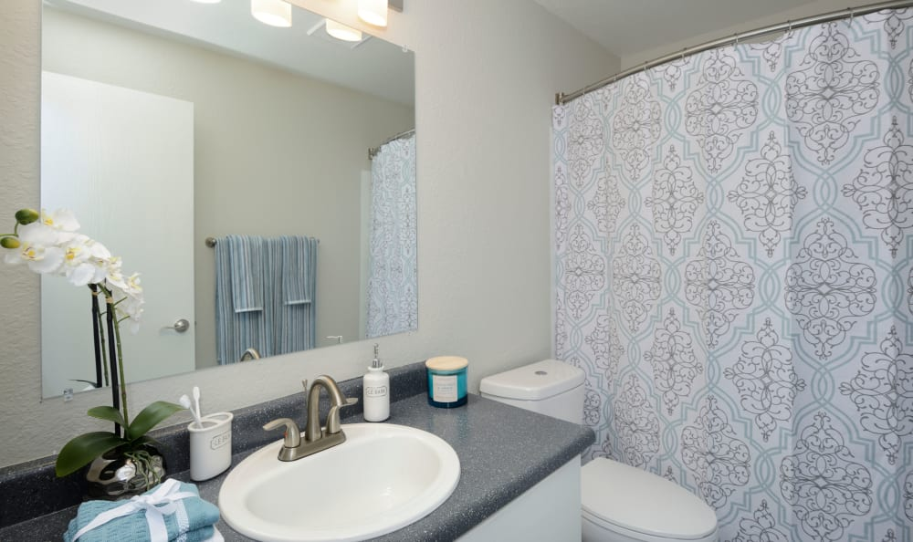 Bathroom at Arbor Chase Apartment Homes in Kent, WA
