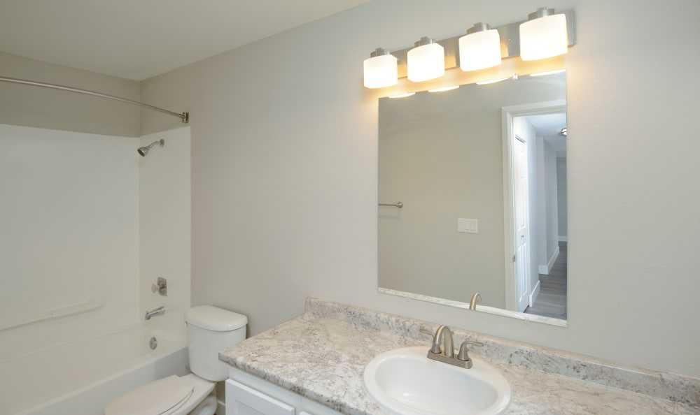 Bathroom at The Boulevard at South Station Apartment Homes in Tukwila, Washington