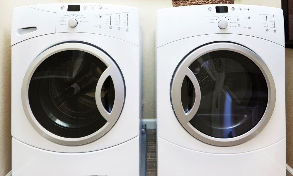 In-home washer and dryer available at The Elms of Bloomfield in Bloomfield, New York