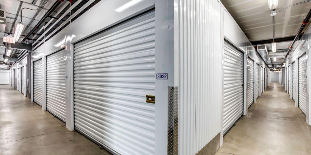 Large indoor storage units at StorQuest Self Storage in La Quinta, California