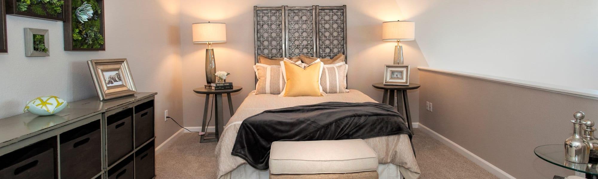 Floor plans at Venu at Galleria Condominium Rentals in Roseville, California