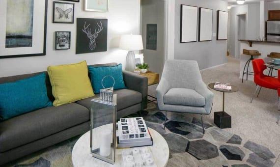 Model Living Room at Sofi at Cedar Mill in Portland