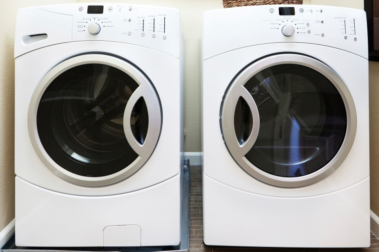 In-home washer and dryer at The Elms of Bloomfield in Bloomfield, New York