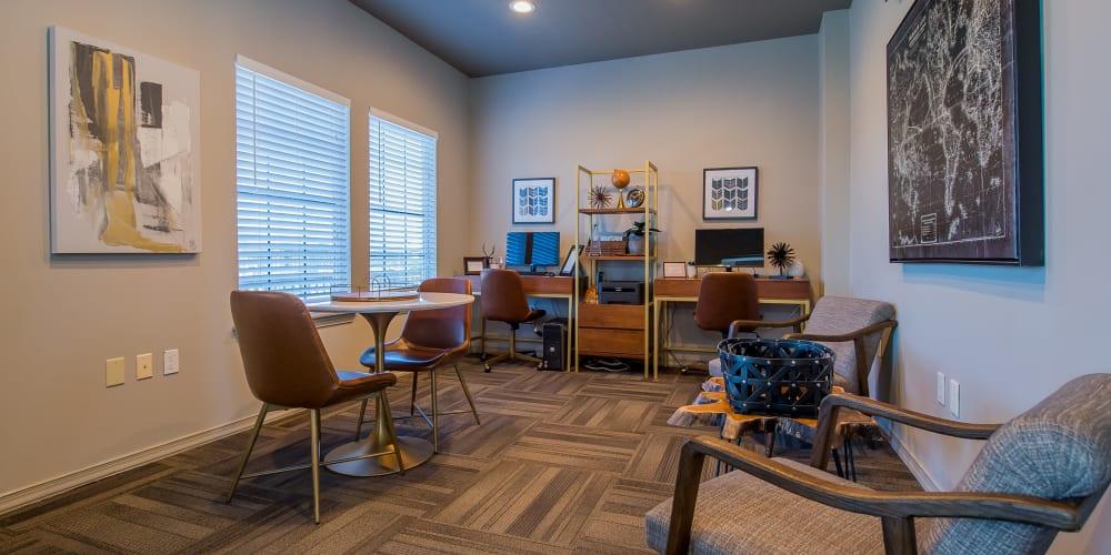 Business center at The Remington Apartments in Wichita, Kansas