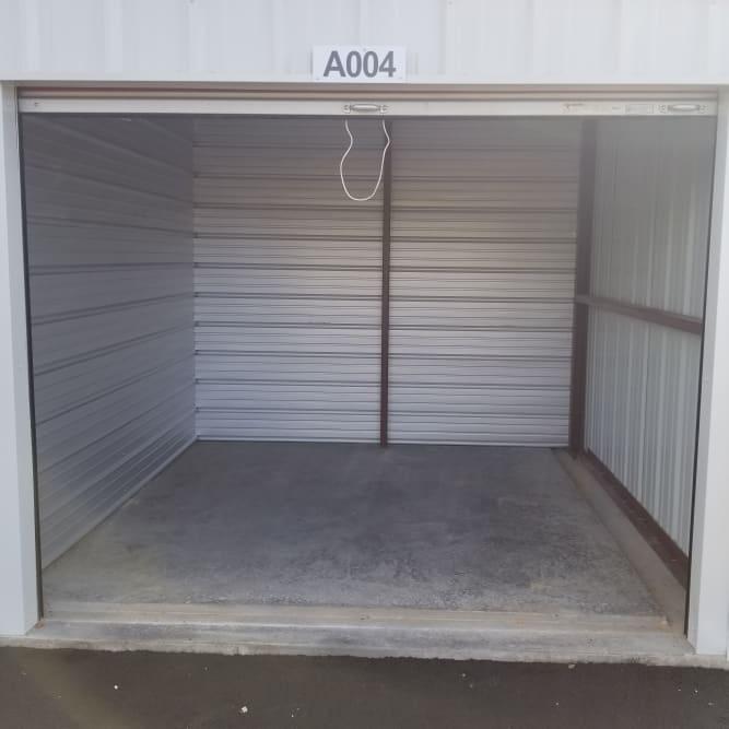 Interior of 10x10 storage unit