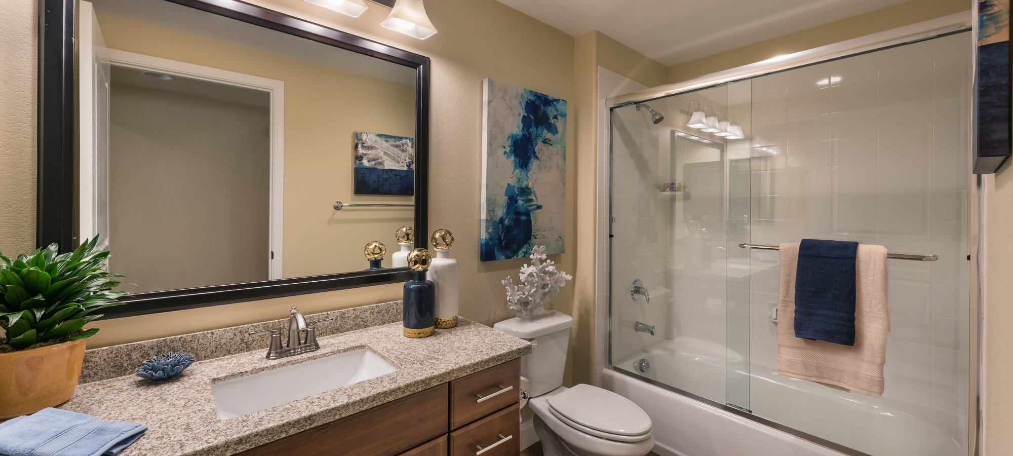 Beautiful model bathroom at San Portales in Scottsdale, Arizona