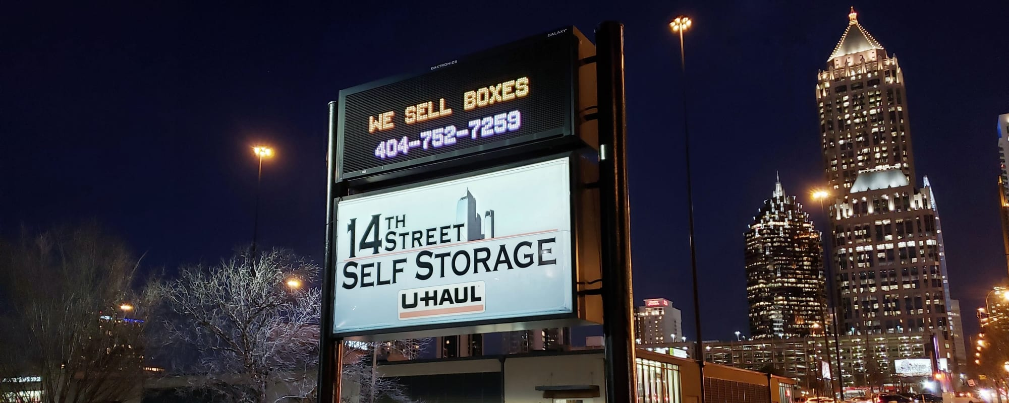 Front of building at Space Shop Self Storage in Atlanta, Georgia