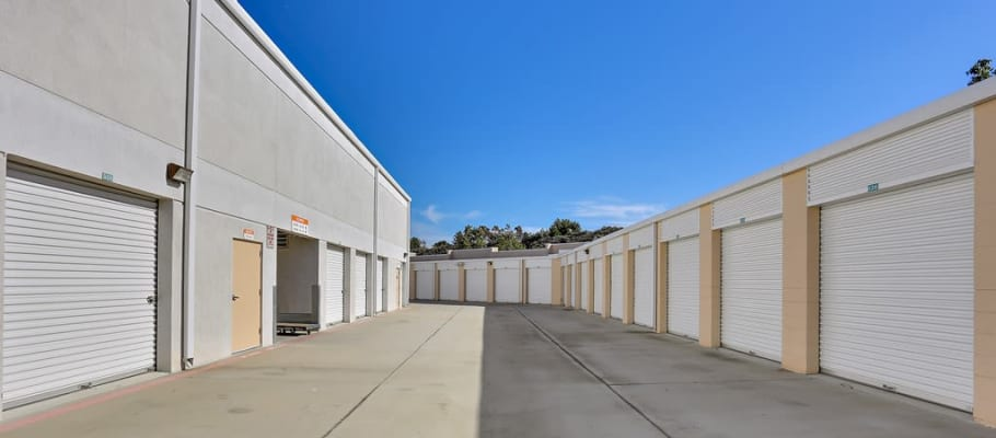 Rows of indoor storage units at A-1 Self Storage in Lake Forest, California